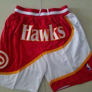 New NBA Just Don Atlanta Hawks Basketball Shorts